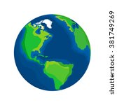 realistic earth isolated on... | Shutterstock .eps vector #381749269