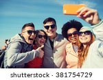 people  leisure  friendship and ... | Shutterstock . vector #381754729