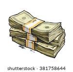 stack of money. dollar bills....