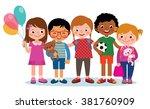 stock illustration group of... | Shutterstock . vector #381760909