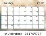 vector planning calendar... | Shutterstock .eps vector #381764737
