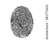 realistic vector fingerprint... | Shutterstock .eps vector #381771631