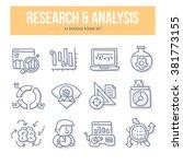 doodle line icons of scientific ... | Shutterstock .eps vector #381773155