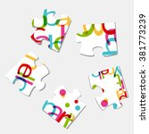 alphabet puzzle   Shutterstock .eps vector #381773239