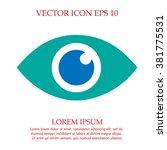eye vector icon eps 10.... | Shutterstock .eps vector #381775531