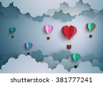 concept of love and valentine... | Shutterstock .eps vector #381777241