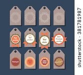 set of retro tags  hand crafted ... | Shutterstock .eps vector #381781987