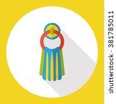 bath towel flat icon   Shutterstock .eps vector #381785011