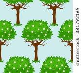 seamless pattern with cartoon... | Shutterstock .eps vector #381792169