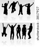 jumps of people | Shutterstock .eps vector #3817927