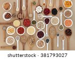 large superfood sampler for... | Shutterstock . vector #381793027
