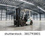 forklift loader in large modern ...   Shutterstock . vector #381793801