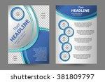 vector flyer template design.... | Shutterstock .eps vector #381809797
