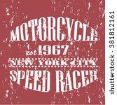 vintage banner. motorcycle... | Shutterstock .eps vector #381812161