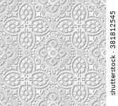 vector damask seamless 3d paper ...