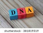 dna  deoxyribonucleic acid ... | Shutterstock . vector #381819319