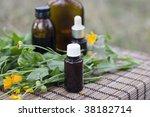 calendula flowers and... | Shutterstock . vector #38182714