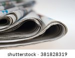 pile of old newspapers ... | Shutterstock . vector #381828319