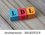 ldl  low density lipoprotein ... | Shutterstock . vector #381829219