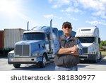 truck driver | Shutterstock . vector #381830977