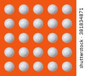 golf balls on orange background. | Shutterstock . vector #381834871