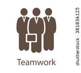 teamwork vector icon. teamwork... | Shutterstock .eps vector #381836125