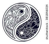 yin and yang decorative symbol. ... | Shutterstock .eps vector #381846034