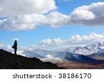 altai landscape , indian summer - stock photo