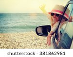 vacations and tourism concept ... | Shutterstock . vector #381862981