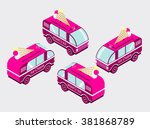 set isometric with the image of ... | Shutterstock .eps vector #381868789