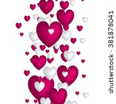 valentine. set of stickers in... | Shutterstock .eps vector #381878041