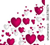 valentine. set of stickers in... | Shutterstock .eps vector #381878074