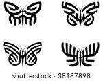 abstract butterflies | Shutterstock . vector #38187898