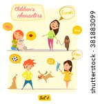 children's characters. happy... | Shutterstock .eps vector #381883099