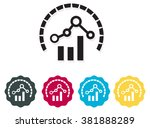 financial performance icon | Shutterstock .eps vector #381888289