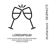 web line icon. glasses of... | Shutterstock .eps vector #381896275
