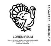 web line icon. turkey | Shutterstock .eps vector #381899791