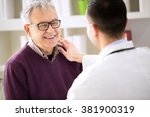 smiling happy old patient visit ... | Shutterstock . vector #381900319