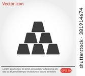 icon of gold bullion. | Shutterstock .eps vector #381914674
