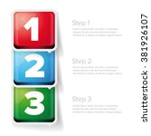 one two three   3d vector...   Shutterstock .eps vector #381926107