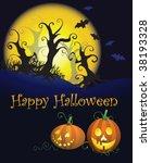 halloween background | Shutterstock .eps vector #38193328