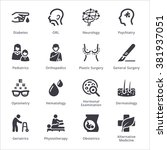 medical specialties icons set... | Shutterstock .eps vector #381937051