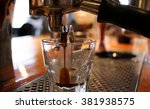 espresso machine making... | Shutterstock . vector #381938575