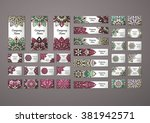 big templates set. business... | Shutterstock .eps vector #381942571