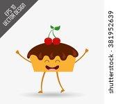 character food design  | Shutterstock .eps vector #381952639