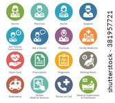 medical services icons set 3  ... | Shutterstock .eps vector #381957721