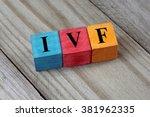ivf  in vitro fertilization ... | Shutterstock . vector #381962335