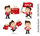 people set   business  sale   Shutterstock .eps vector #381963451