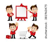 people set   business  sale   Shutterstock .eps vector #381963475