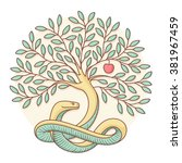 tree of the knowledge of good... | Shutterstock .eps vector #381967459
